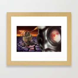 Morning Stroll. Framed Art Print