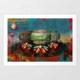 Digital Indian 5 Art Print