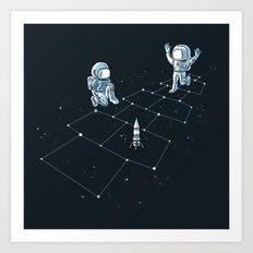 Hopscotch Astronauts Art Print