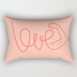 Love Is The Power (color version) Rectangular Pillow