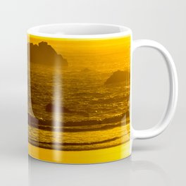 Strolling Harris Beach At Sunset - Oregon Coffee Mug