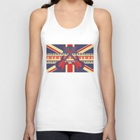 british Tank Tops featuring British Rock by Ornaart
