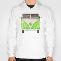 volkswagon Hoodies featuring VW Type 2 by One Curious Chip