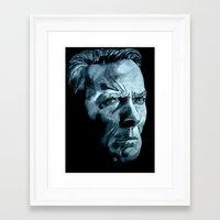 clint eastwood Framed Art Prints featuring Clint Eastwood by artbyolev