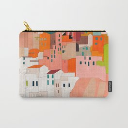 italy coast houses minimal abstract painting Carry-All Pouch