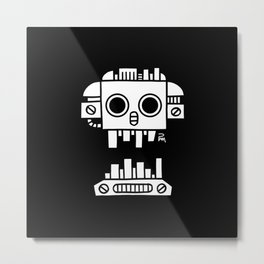 Mechanical Jolly Roger - PM Metal Print