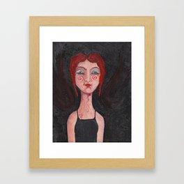 Red Headed Angel Framed Art Print