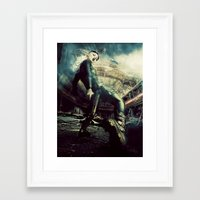 metal gear Framed Art Prints featuring Metal Gear by Christel Michiels (DD)