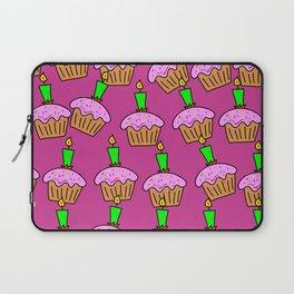 Pretty Pink Cupcake Bacground Laptop Sleeve
