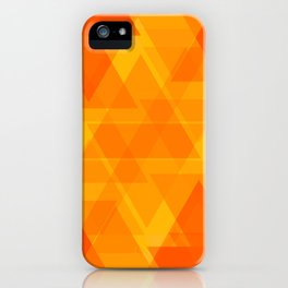 Bright orange and yellow triangles in the intersection and overlay. iPhone Case