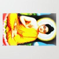 hologram Area & Throw Rugs featuring Buddha by nuzzocozzamara