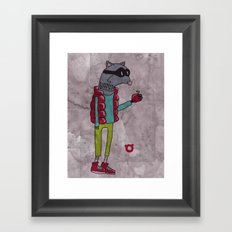 006_raccoon Framed Art Print