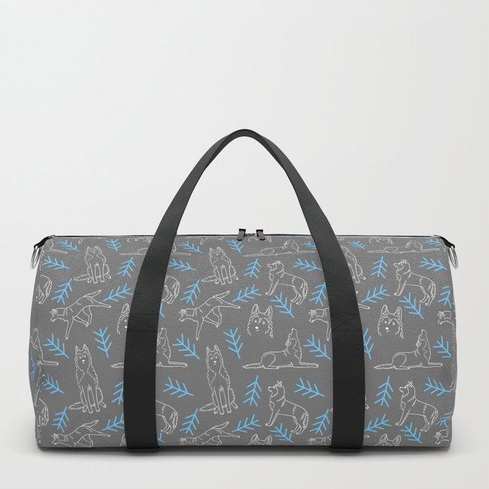 Siberian Husky Pattern Duffle Bag