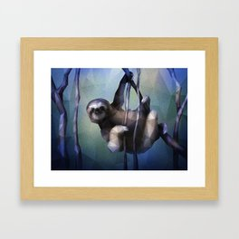 Sloth (Low Poly Cool) Framed Art Print
