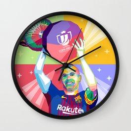 Iniesta Copa Del Rey Wall Clock