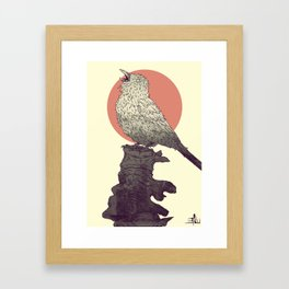 Sparrow's lament Framed Art Print