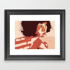 Smoke break Framed Art Print