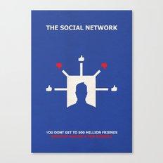 The Social Network Alternative Minimalist Poster - Dislike Canvas Print