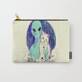 alien and cat anti-human squad Carry-All Pouch