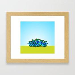 Boomer Bear Family 2 Framed Art Print