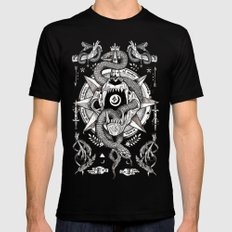 Ad Mortumn Black Mens Fitted Tee LARGE