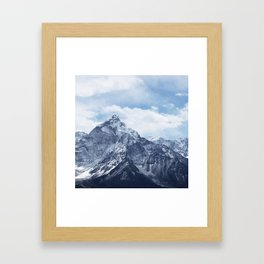 Snowy Mountain Peaks Framed Art Print