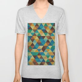 Triangles and Colors Unisex V-Neck