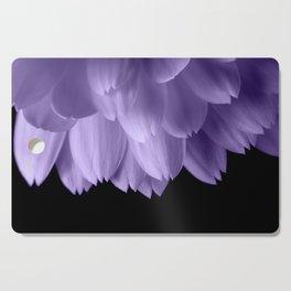 Ultra violet purple flower petals black Cutting Board