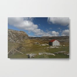 Red roof on Harris Metal Print
