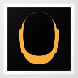 Daft Punk Guy Manuel Helmet Art Print