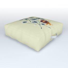 Lion on dandelion Outdoor Floor Cushion