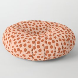 Irregular Small Polka Dots terracota Floor Pillow