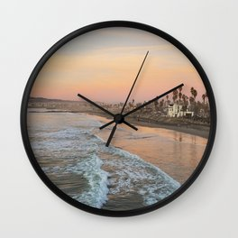 Sunset in San Diego Wall Clock