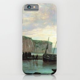 Normandy Beach 1859 By Lev Lagorio   Reproduction   Russian Romanticism Painter iPhone Case