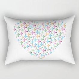 colorful heart of crosses Rectangular Pillow