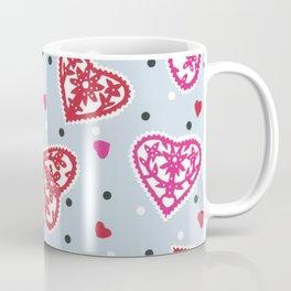 Scattered folk Floral Papercut Hearts by Nettie Heron-Middleton Coffee Mug