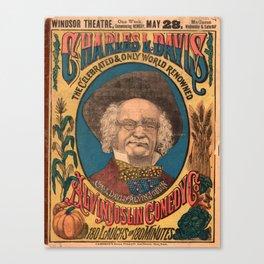 Vaudeville Poster Canvas Print