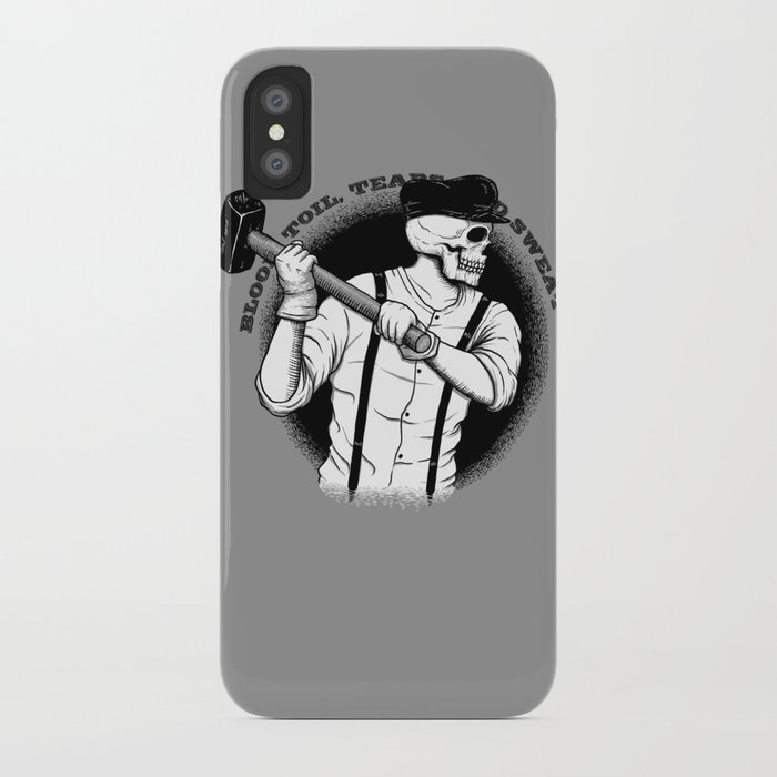 Blood, Toil, Tears, and Sweat iPhone Case