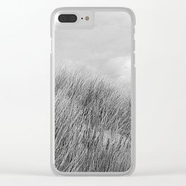 Beach grass - black and white Clear iPhone Case