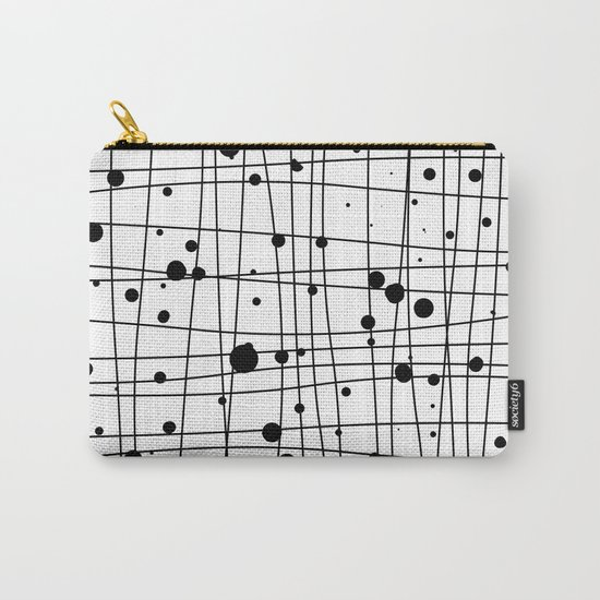 Woven Web black and white Carry-All Pouch