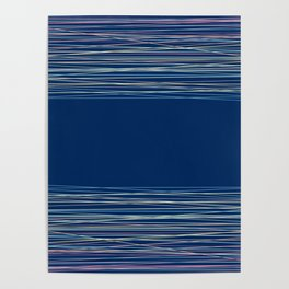 Blue thread , abstract Poster