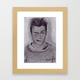 Chris Colfer Drawing Framed Art Print