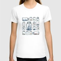 sailboat T-shirts featuring Vintage Preservation by Paula Belle Flores