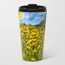 Mylor Walk - Yellow Hawkweed Flowers  Travel Mug