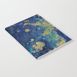 Indigo Teal and Gold Ocean Notebook