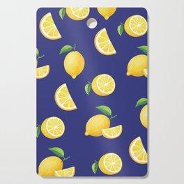 Lemons on Navy Cutting Board