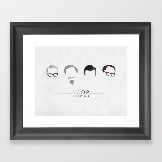 MAD MEN / SCDP Framed Art Print