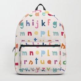 ABC alphabet art Backpack