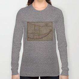Vintage Map of Cincinnati Ohio (1841) Long Sleeve T-shirt