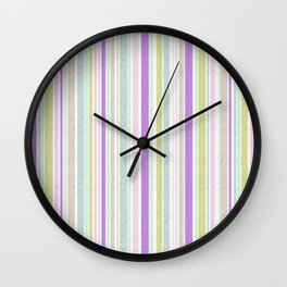 The color pattern of pastel colors 2 Wall Clock
